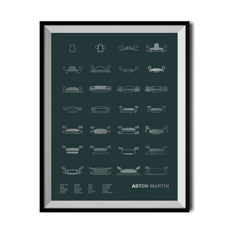 Auto Icon Screen Print Series: Aston Martin