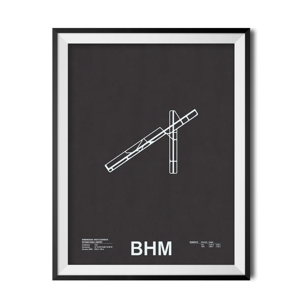 BHM: Birmingham–Shuttlesworth International Airport Screenprint