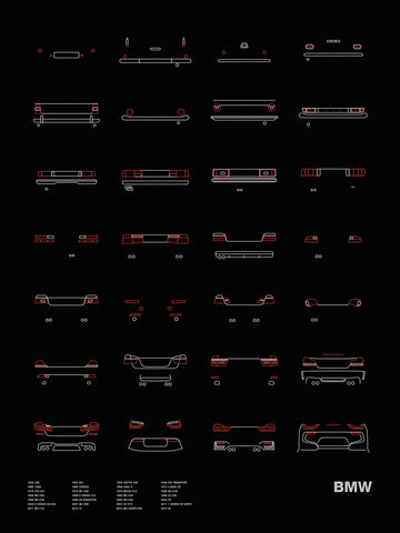 Auto Icon Screen Print Series: BMW Tail Lights