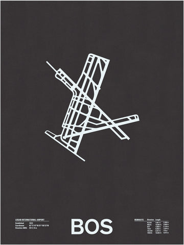 BOS: Logan International Airport Screenprint