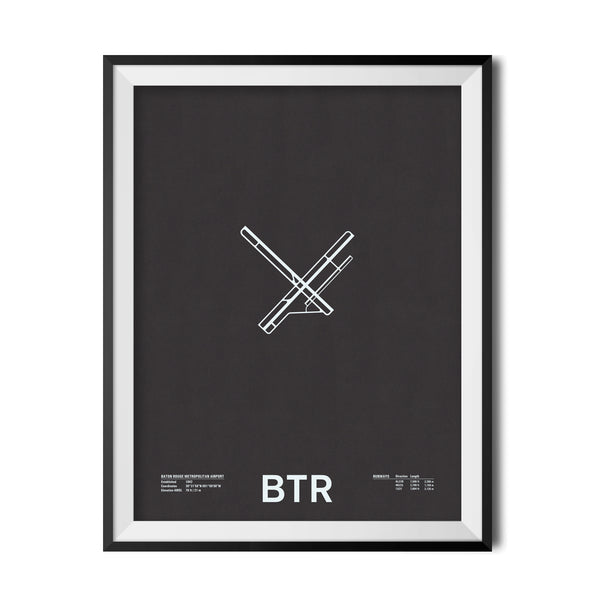 BTR: Baton Rouge Metropolitan Airport Screenprint