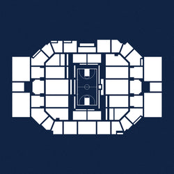 Hinkle Fieldhouse Foil Stamp Print