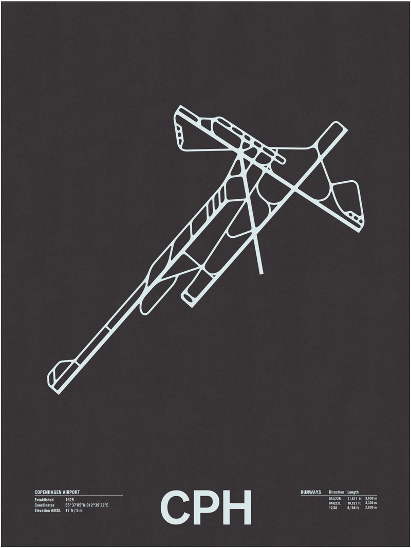 CPH: Copenhagen Airport Screenprint