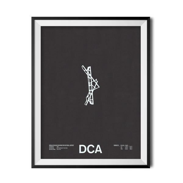 DCA: Ronald Reagan Washington National Airport Screenprint