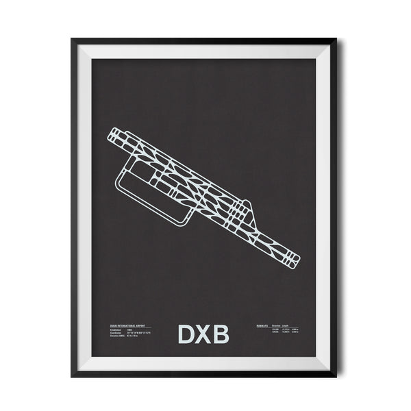 DXB: Dubai International Airport Screenprint
