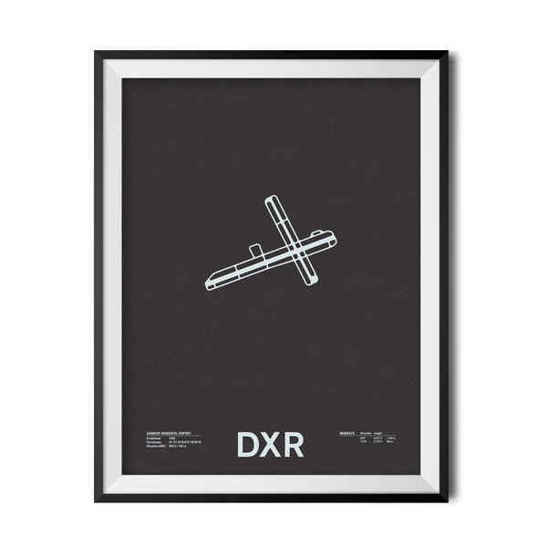 DXR: Danbury Municipal Airport Screenprint