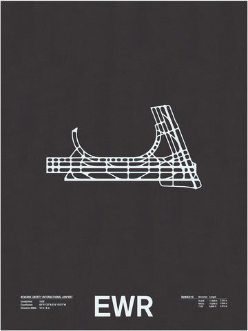 EWR: Newark Liberty International Airport Screen Print
