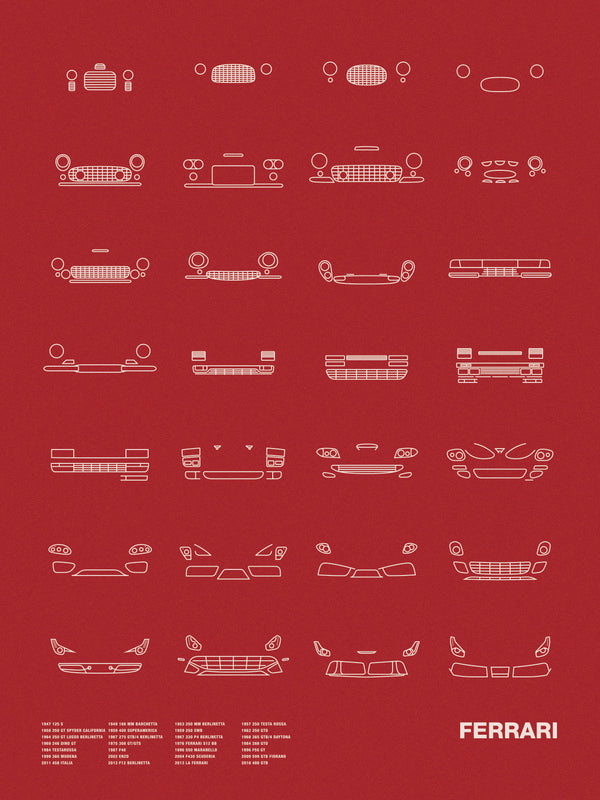 Auto Icon Screen Print Series: Ferrari