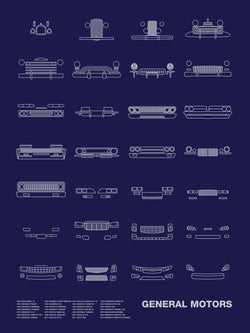 Auto Icon Screen Print Series: General Motors