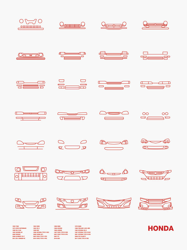 Auto Icon Screen Print Series: Honda