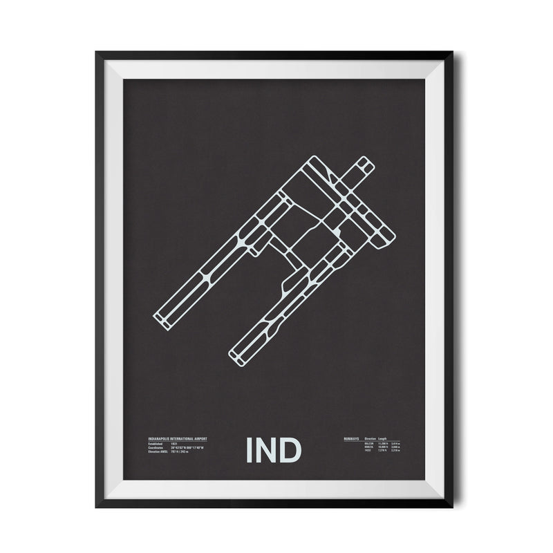 IND: Indianapolis International Airport Screenprint