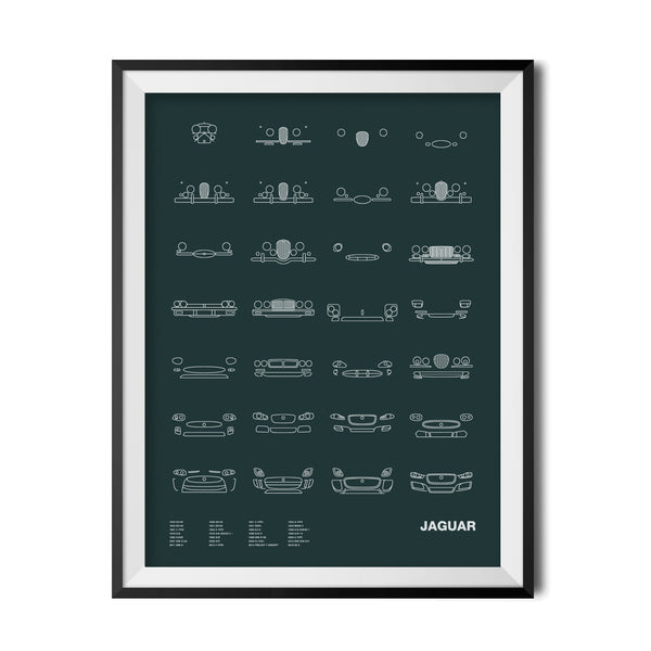 Auto Icon Screen Print Series: Jaguar