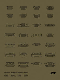 Auto Icon Screen Print Series: Jeep
