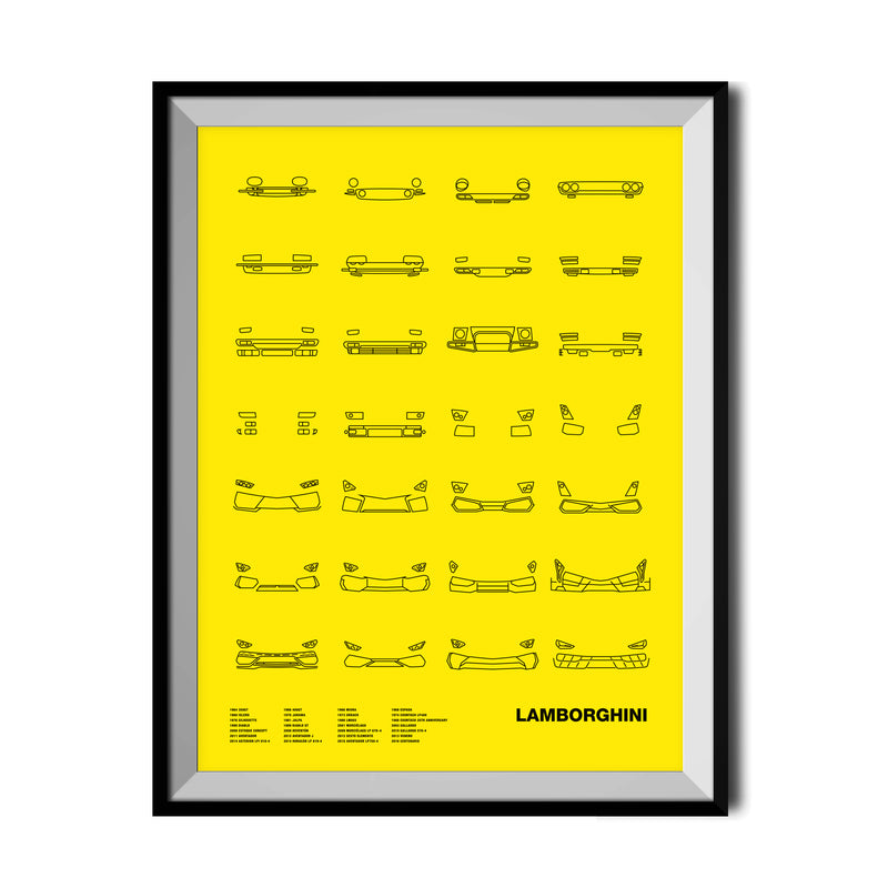 Auto Icon Screen Print Series: Lamborghini