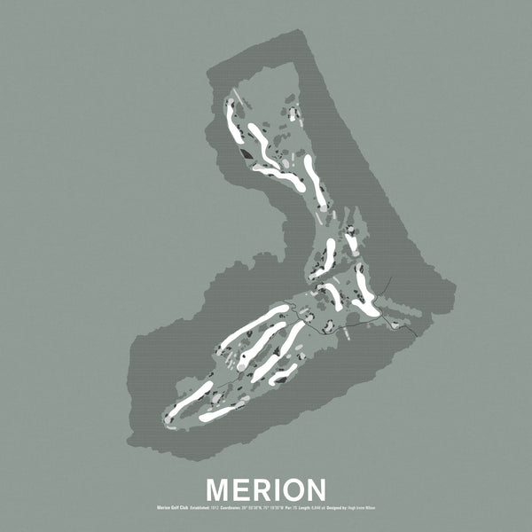 Merion Golf Club Screenprint