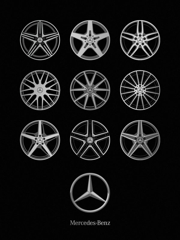 Mercedes-Benz Wheels Screenprint