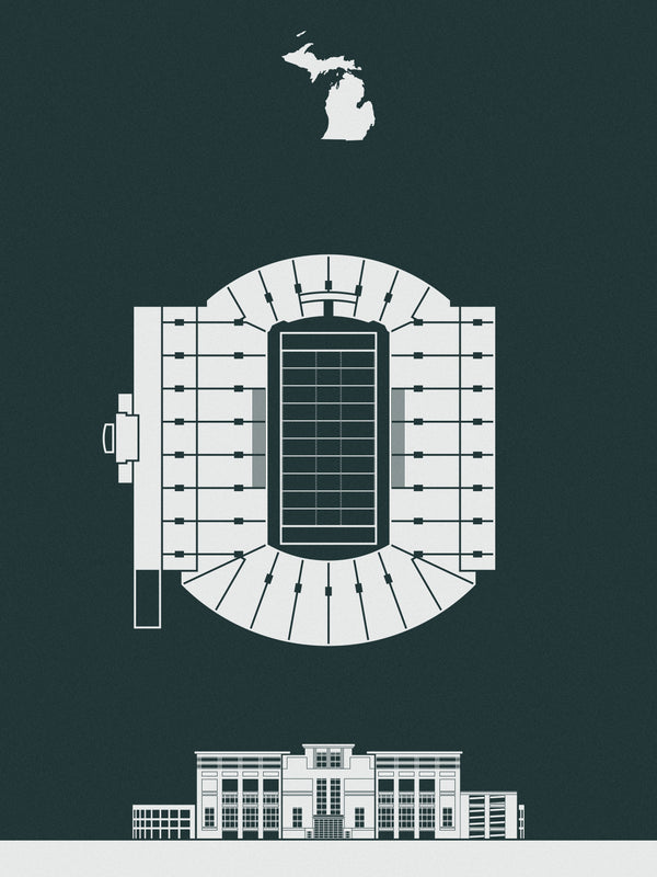 Spartan Stadium Screenprint