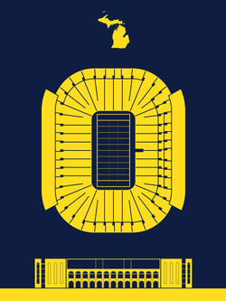 Michigan Stadium Screenprint