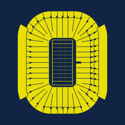 Michigan Stadium Foil Stamp Print
