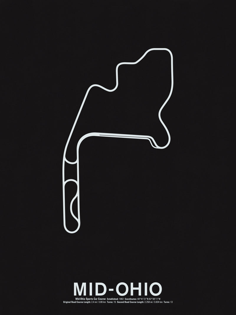 Mid-Ohio Sports Car Course Screenprint
