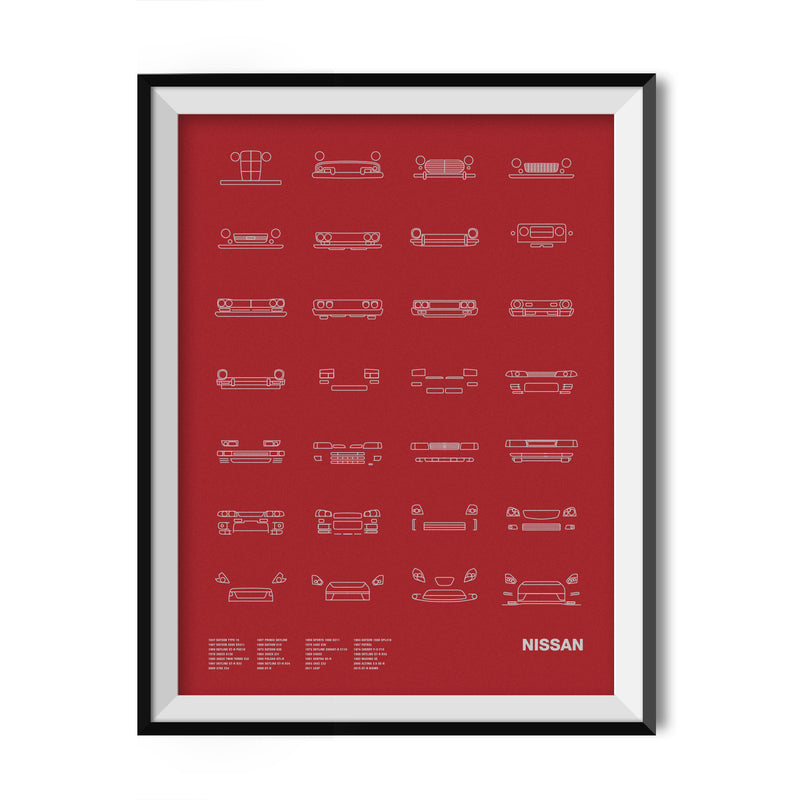 Auto Icon Screen Print Series: Nissan