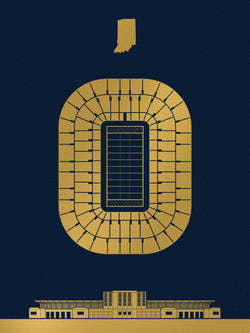 Notre Dame Stadium Screenprint