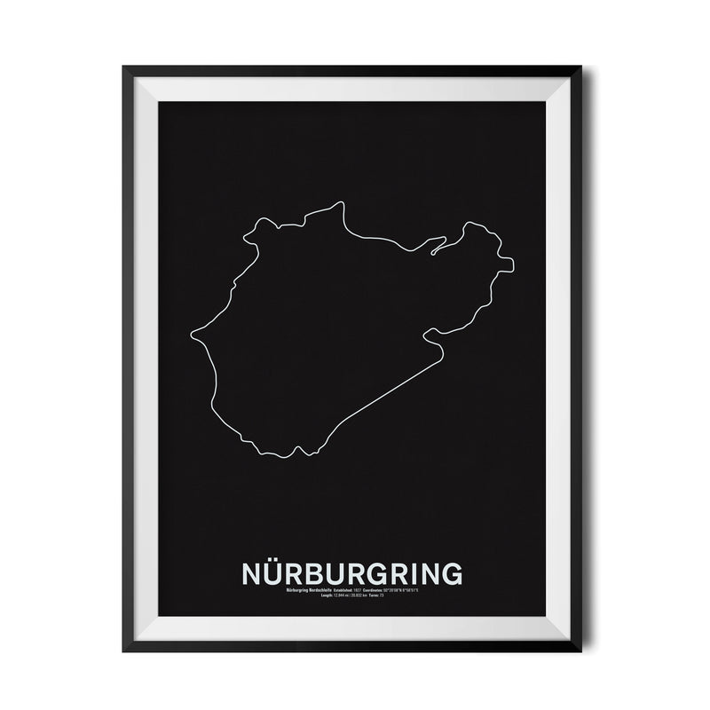Nürburgring Nordschleife Screenprint
