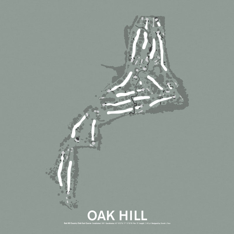 Oak Hill Country Club East Course Screenprint