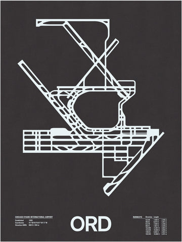 ORD: Chicago O'Hare International Screenprint