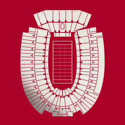 Ohio Stadium Foil Stamp Print