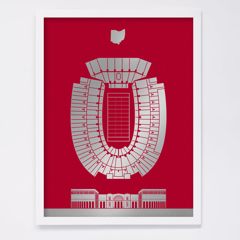 Ohio Stadium Screenprint