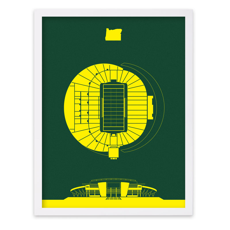 Autzen Stadium Screenprint
