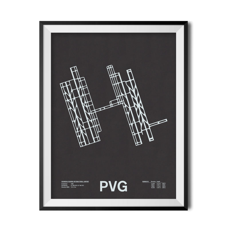 PVG: Shanghai Pudong International Airport Screenprint