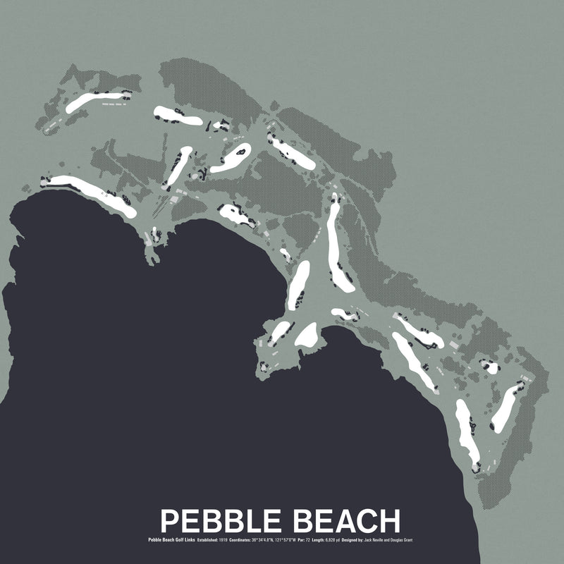 Pebble Beach Golf Links Screenprint Poster