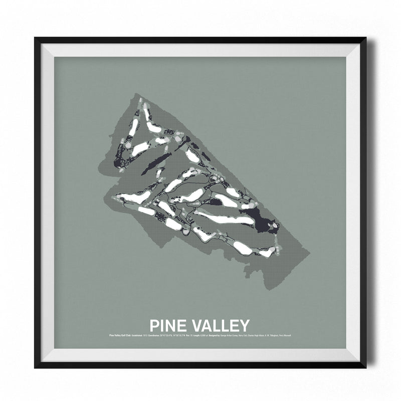 Pine Valley Golf Club Screenprint Poster