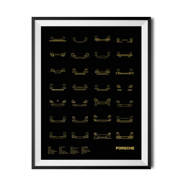 Auto Icon Screen Print Series: Porsche