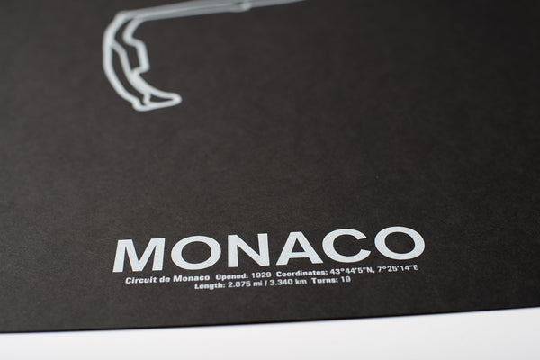 Circuit de Monaco Screenprint