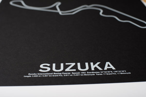 Suzuka International Racing Course Screenprint