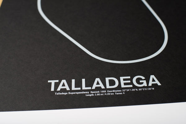 Talladega Superspeedway Screenprint