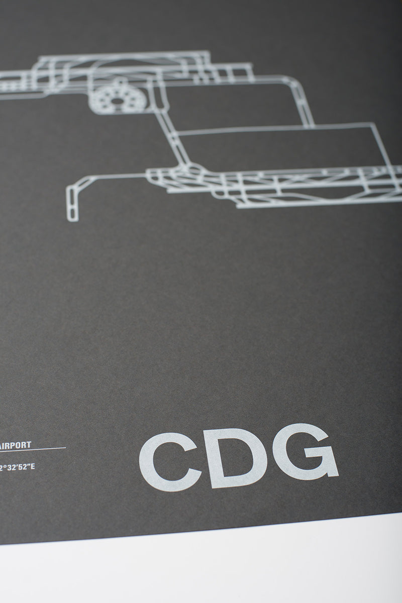 CDG: Paris-Charles de Gaulle Airport Screenprint