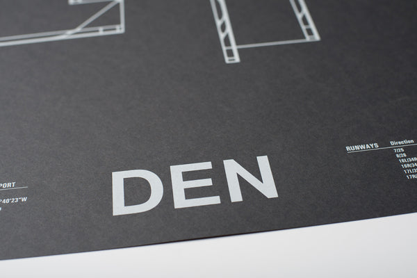 DEN: Denver International Airport Screenprint