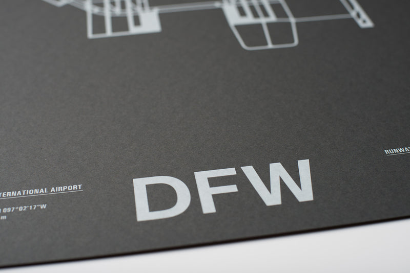 DFW: Dallas/Fort Worth International Airport Screenprint