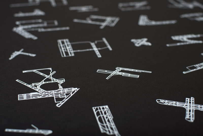 RUNWAY COLLECTION: 30 Busiest US Airports Screenprint