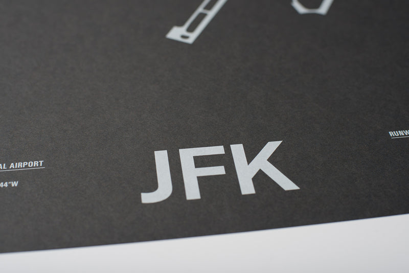 JFK: John F. Kennedy International Airport Screenprint