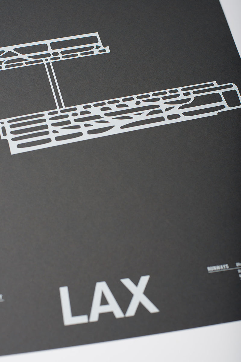 LAX: Los Angeles International Airport Screenprint