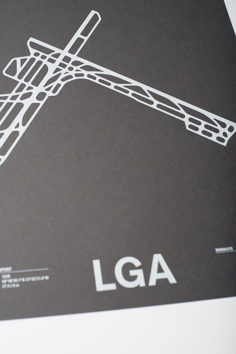LGA: LaGuardia Airport Screenprint