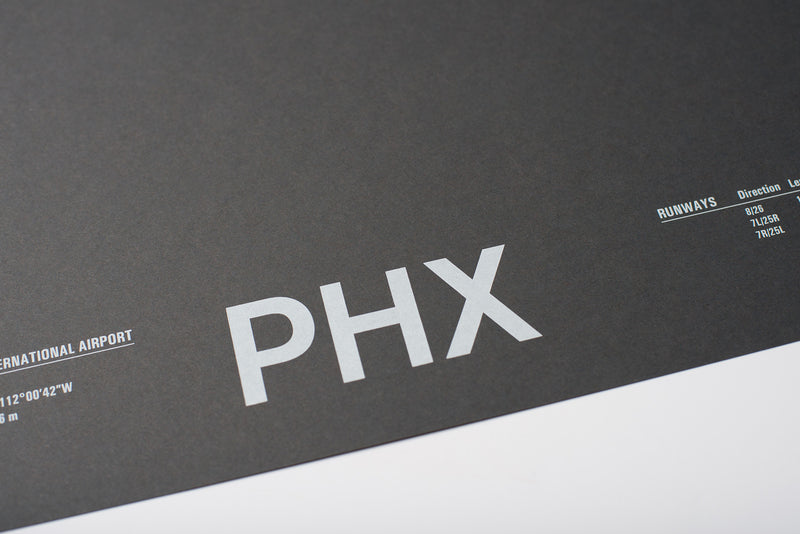 PHX: Phoenix Sky Harbor Screenprint
