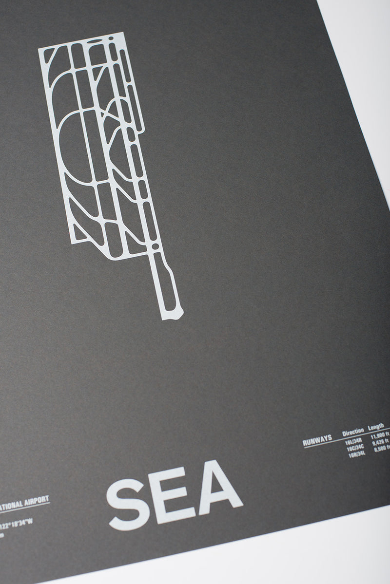 SEA: Seattle–Tacoma International Airport Screenprint