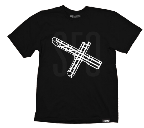 SFO: San Francisco International Underlay Code T-Shirt