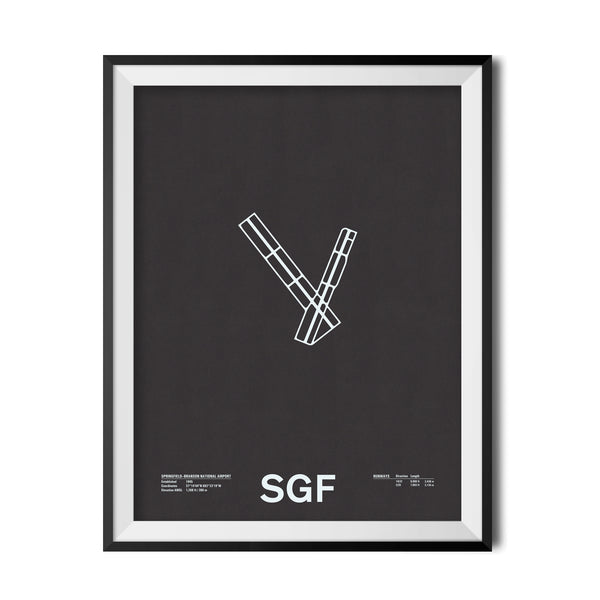SGF: Springfield–Branson National Airport Screenprint